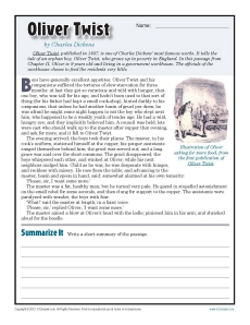Oliver Twist Reading Comprehension Worksheets 7th Grade – Cute766