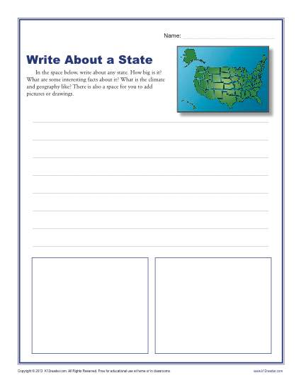 Write About A State
