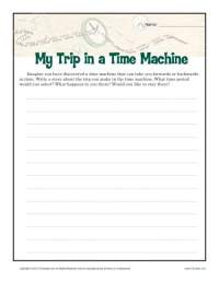 My Time Machine Trip | Creative Writing Prompt for 6th ...