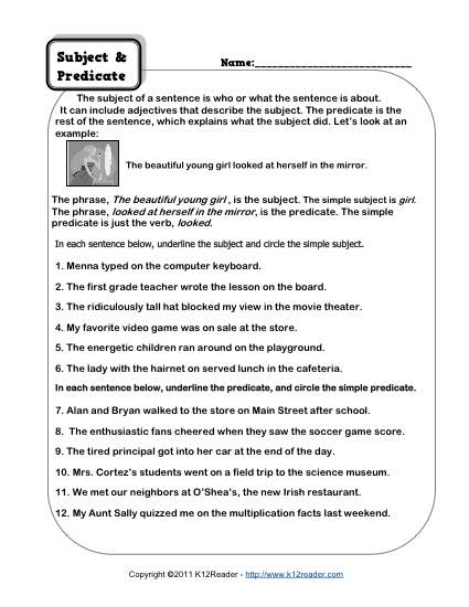 diagramming compound sentences worksheets 2003 harley wiring diagram subject and predicate