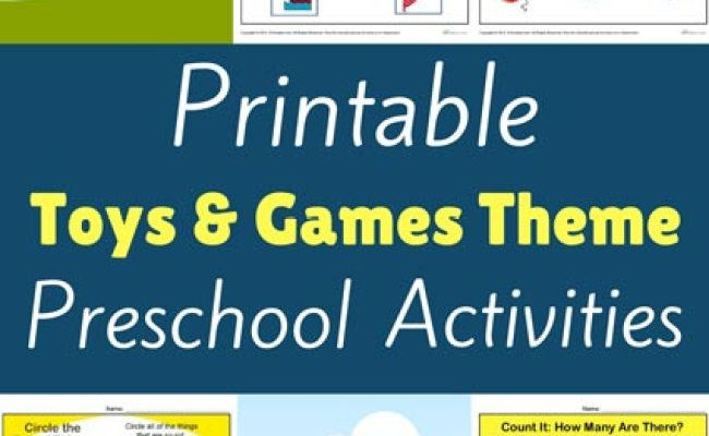 Toys And Games Preschool Theme Activities Printable Lessons