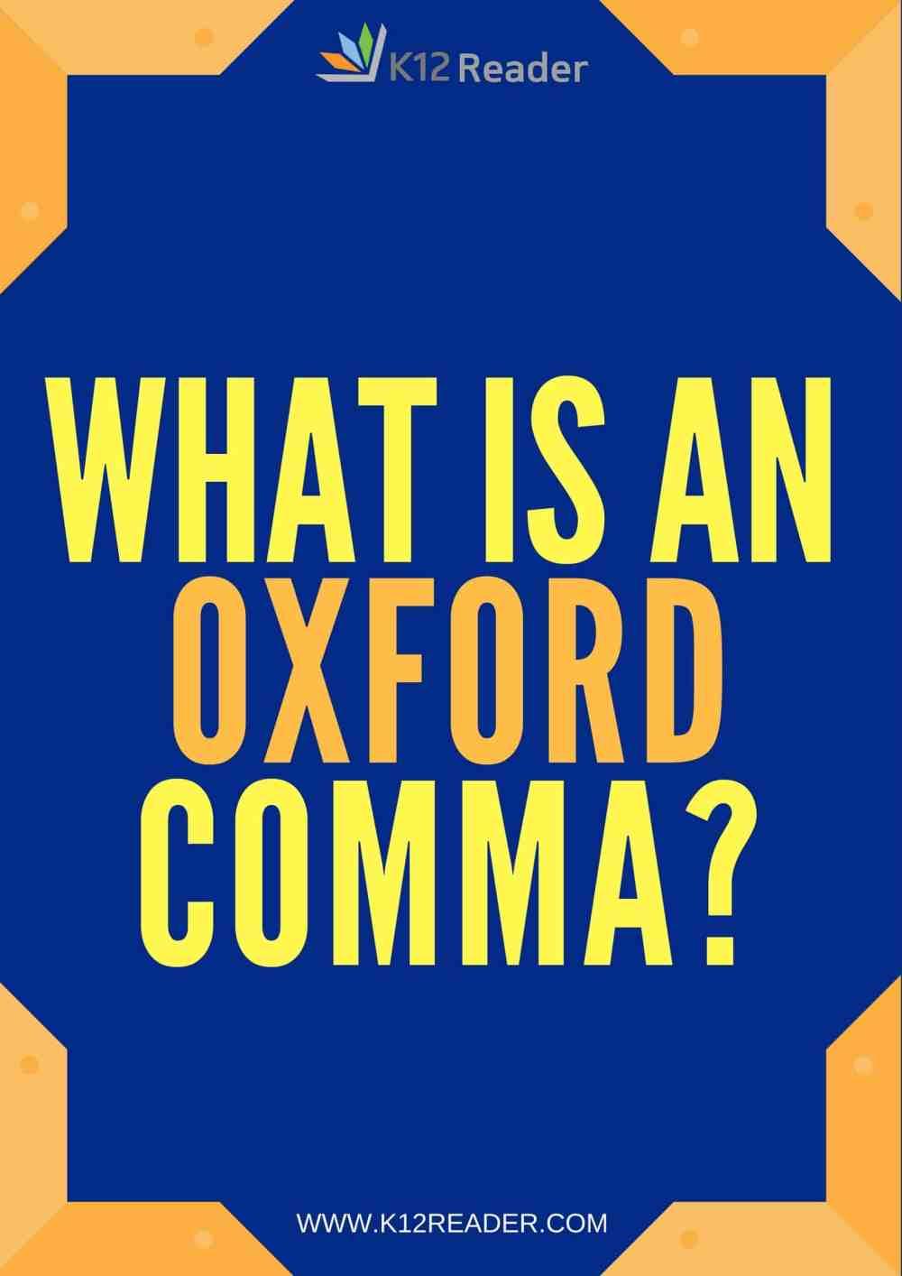medium resolution of Oxford Comma - Definition \u0026 Examples   K12Reader