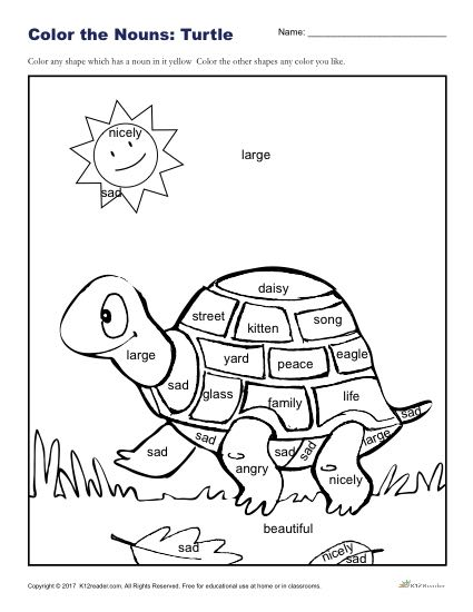 Nouns Worksheets 3rd Grade Vocabulary Sketch Coloring Page