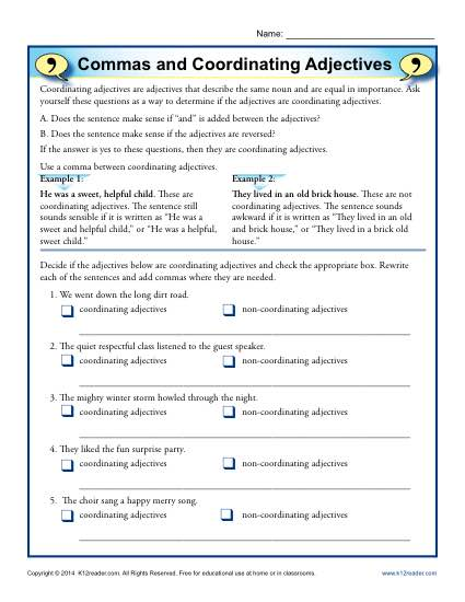 Commas And Coordinating Adjectives