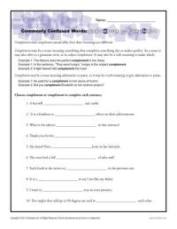Complement vs. Compliment Worksheet | Commonly Confused Words