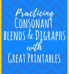 Consonant Blends and Digraphs Printable Activities   What are Consonant  Blends? [ 1102 x 735 Pixel ]