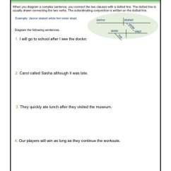 Diagramming Sentences With Conjunctions Ford F350 Radio Wiring Diagram Sentence Complex Worksheets