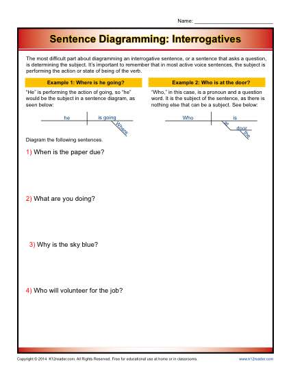 Declarative Sentence Worksheet Grade 1