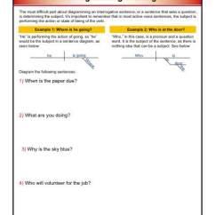 Diagramming Sentences Declarative Wiring Diagram For 7 Pin Trailer Connector Sentence Interrogatives Worksheets