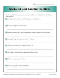 Misplaced and Dangling Modifiers | Word Usage Worksheet