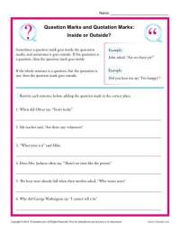 Question Marks and Quotation Marks: Inside or Outside ...