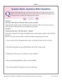 Quotation Marks: Quotations Within Quotations | Grammar ...