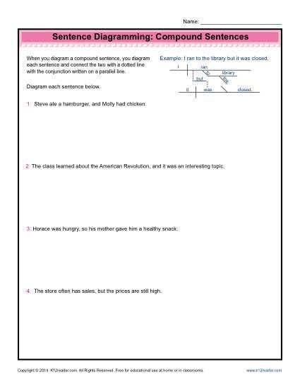 diagramming sentences diagram ski doo wiring sentence worksheets compound