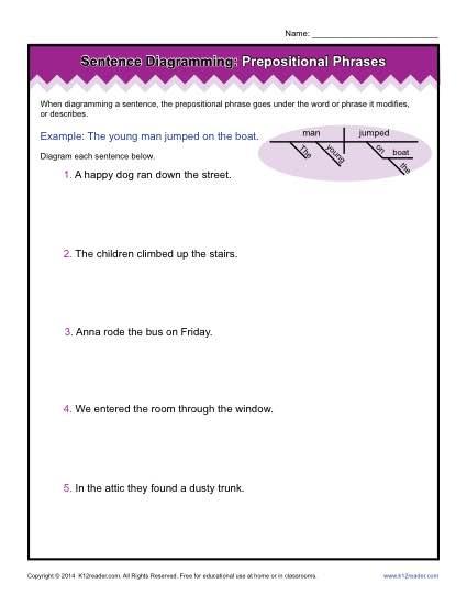 diagramming sentences diagram rockford fosgate p2 wiring worksheets prepositional phrases practice