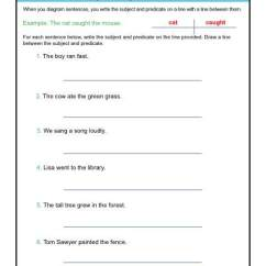 Drawing Sentences A Guide To Diagramming Make Your Own Venn Diagram Worksheets Subject And Predicate Sentence Practice