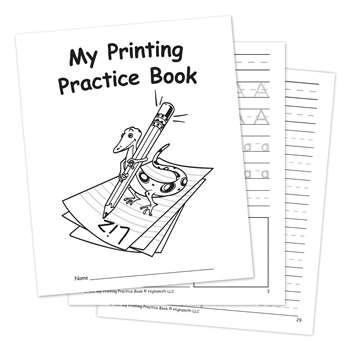 My Own Printing Practice Book by Edupress: Handwriting