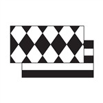 Black & White Diamonds Double Sided Border FST3173 Frog