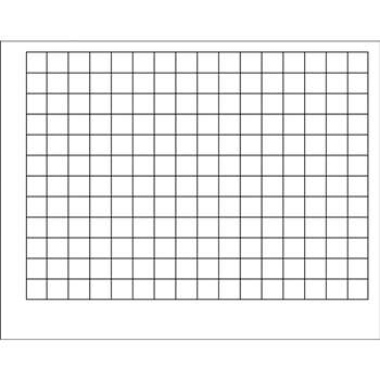 Wipe-Off Chart Graphing Grid 1-1/2 Inch Squares 22 X 28 by