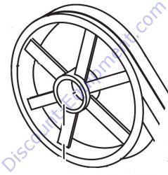 505205 Pulley, Small (Gas Engine) for Stow MS30, MS63
