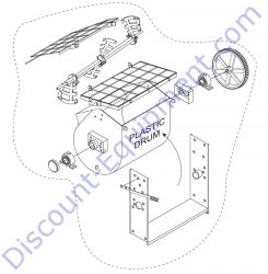 516062 Plastic Drum & Shaft Assembly for Whiteman WM70