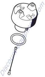 0000 350 0514 Filler cap for Stihl TS700 & TS420