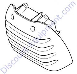 4238 140 1000 Filter cover (1-4) for Stihl TS420