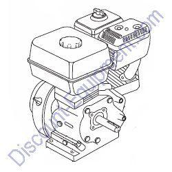 GX240K1HA2 ENGINE, HONDA 8.0 HP for Whiteman Concrete