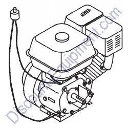 EM203456 11HP HONDA ENGINE for Multiquip Mortar Mixers