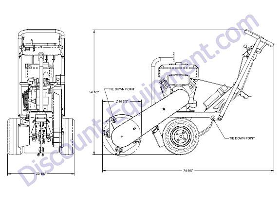 Barreto 13SGH-16SGB Pivot Stump Grinder Overview