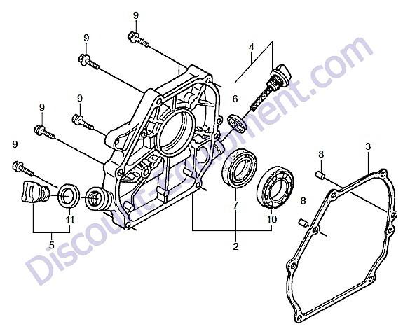 Multiquip MVH128GH Reversible Plate Compactor Crankcase