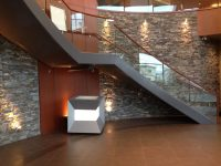 Modern Staircase in Commercial Building  K2 Stone