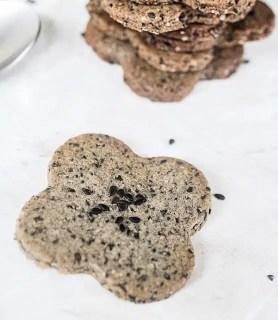K33 Kitchen black sesame cookies