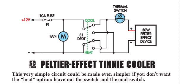 peltier cooler schematic
