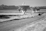 A view of multiple dishes at the VLA.