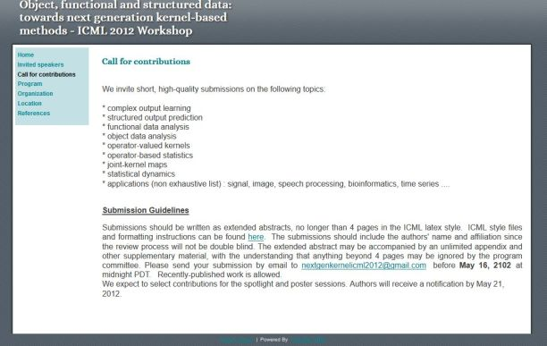 Object, functional and structured data: towards next generation kernel-based methods - ICML 2012 Workshop