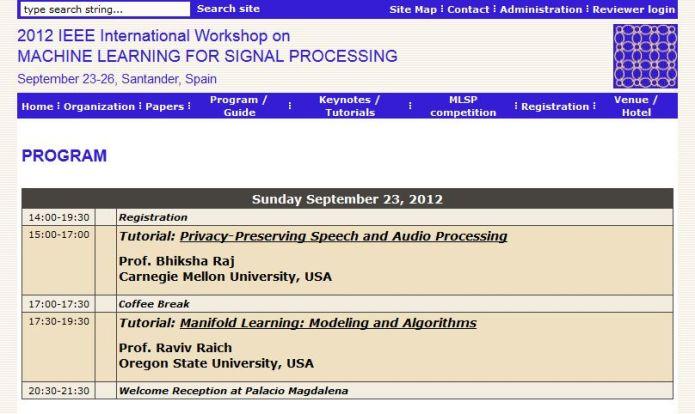 22nd MLSP workshop