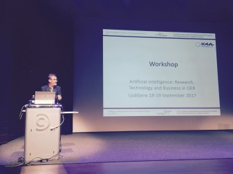 """""""Artificial Intelligence: Research, Technology and Business in OER"""" focused satellite at the 2nd World Congress on Open Educational Resources in Ljubljana, Slovenia on 18-19 September 2017"""