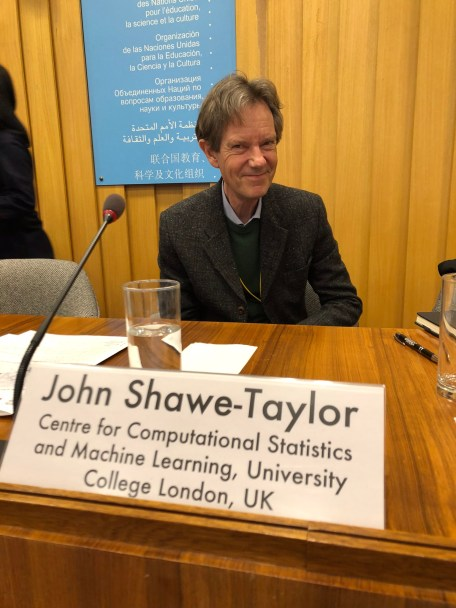 UNESCO Chair in Artificial Intelligence – John Shawe-Taylor - Workshop on Artificial Intelligence in Knowledge Societies: A ROAM Approach