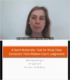 Amelia Taylor - A Semi-Automatic Tool for Meta-data extraction from Malawi Court Judgments