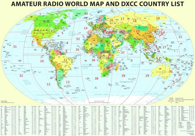 Amateur Radio World Map