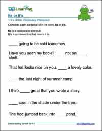 Grade 3 Vocabulary Worksheets  printable and organized by ...