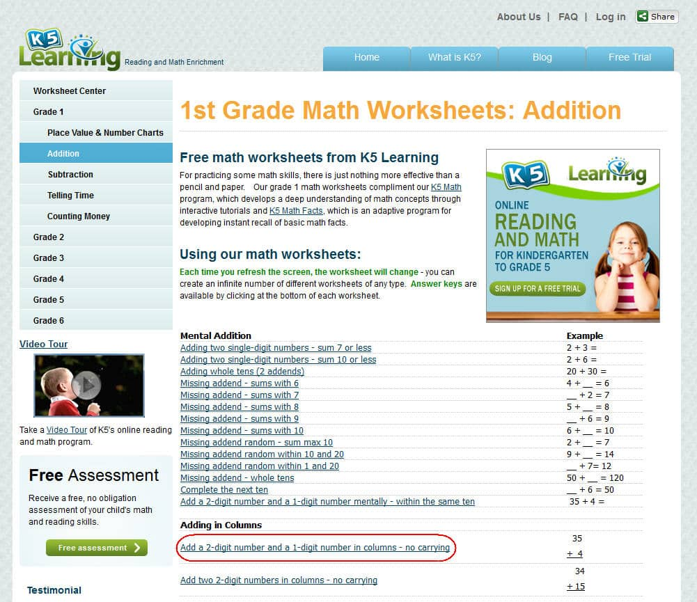 hight resolution of K5 Learning Launches Free Math Worksheets Center   K5 Learning