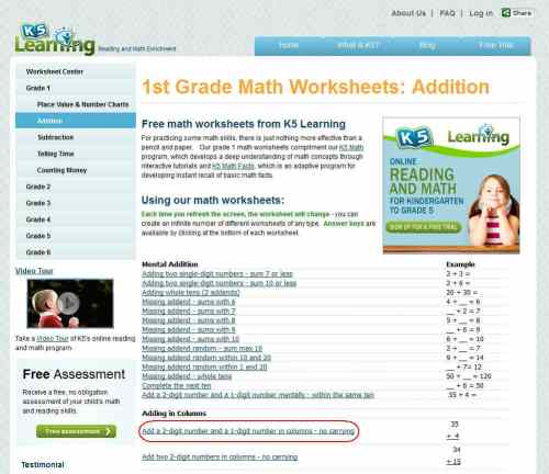 small resolution of K5 Learning Launches Free Math Worksheets Center   K5 Learning