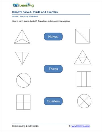 2nd Grade Fractions Worksheets