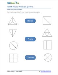 2nd Grade Fractions Worksheets | K5 Learning