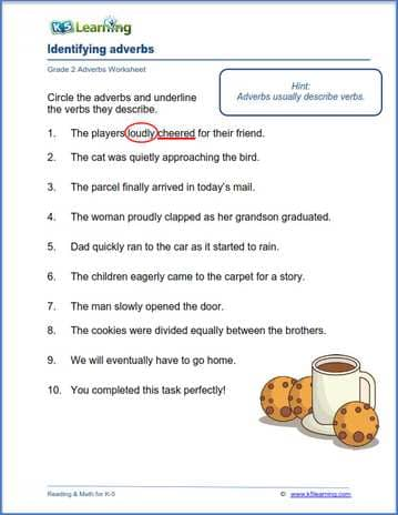 Adverbs And Verbs Worksheets