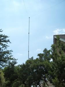 A 35 foot push up mast.