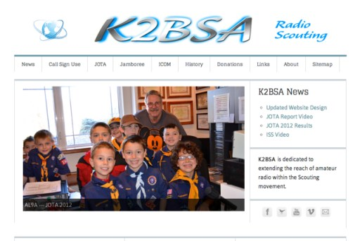 New K2BSA Website Design