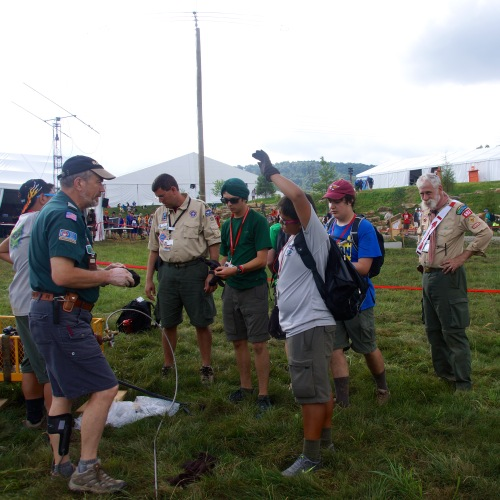 Balloon launches were a highlight with Keith Kaiser, WA0TJT, guiding the Scouts efforts.
