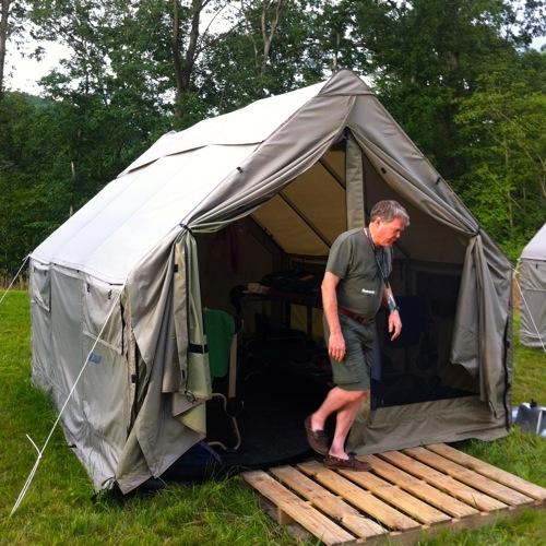 My Jamboree home for three week. My tent housed the K2BSA leadership team.
